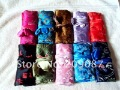 Free shipping! 30  pcs Silk Travl Jewelry Rolls Case Pouch Carrying Zipper Large