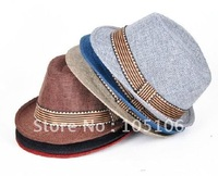 Children's Hats Summer Linen Fedora Hats Boy's Fedoras Hat Girls' Caps For Kids Headgears Mix Colors