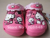 Free shipping likable Hello kitty Kids sandal/slippers shoes size :6C7-12C13