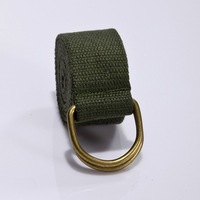 2012 hot sale women/men Bronze double loop buckle  canvas belt dual colors mixed order factory supply