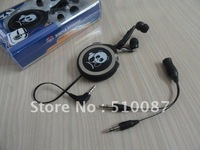 Promotion unilateral retractable smart headphone with mic and remote volume control for iPhone/ iPad/ iPod/ Mac, China post