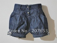 free shipping 5PCS /lot clothing clothing  100% cotton baby girls jeans shorts denim shorts
