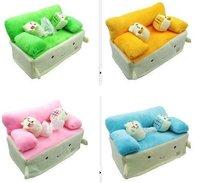 Free shipping ,HOT selling !Retail&Wholesale, Cute tissue box, The tofu Baby Sofa Tissue Box, plush tissue boxes