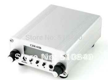 Brand New Black&Silver 0.5W 500mW CZH-05B FM Transmitter Mini Radio Stereo Station PLL LCD (Bare machine) Free shipping