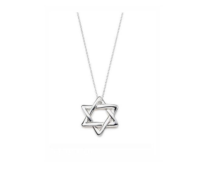 wholesale hot sale silver plated Six Point necklace,fashion jewelry #5020--7(China (Mainland))