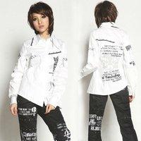 GOTHIC SWEET PUNK DOLLY BONDAGE SLEEVE shirt 71118