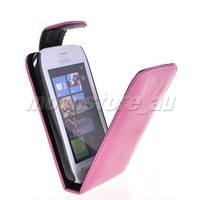 FLIP LEATHER CASE COVER POUCH  FOR NOKIA LUMIA 710 FREE SHIPPING