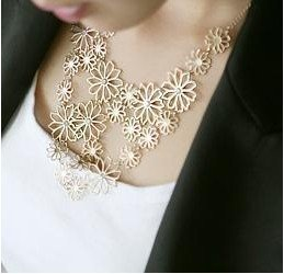 fashion elegant exquisite flower necklace jewelry for women X4981