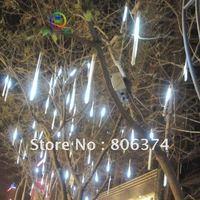 2M 8 X Column String LED Meteor Rain Light(3 X AA supplier) white