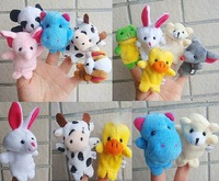 Baby Funny Toy Finger Puppets Story Soagent Animal Figure animal group 50pcs/lot