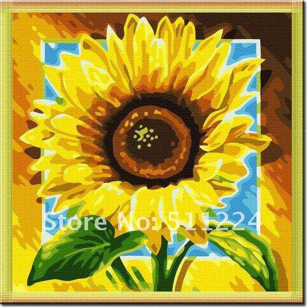 Sunflower Paint by Number Kit Oil Paint by Numbers Kits