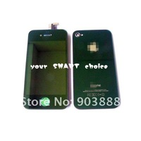 free shipping Plating Mirror Green Touch Screen LCD assembly+Back Housing+Home Button For AT&T iphone 4