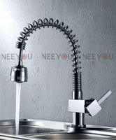 Hot Sale!  Pull Out Spray Single Lever Kitchen Faucet brass sink mixer tap 02684