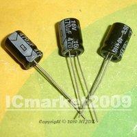 100 PCS 470uF/16V 8*12mm DIP 16V 470uF Aluminum Electrolytic Capacitor 470uF16V