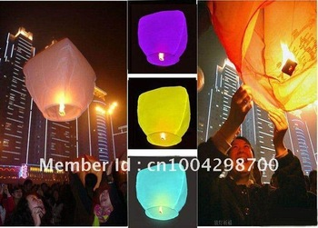 Wholesale - 20pcs/lot Chinese Sky Paper Wishing Lantern,fire balloon Kongming lantern,sky