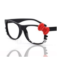 Hello Kitty Eyeglasses Fashion Ladies&amp;#39; Glasses Cute Beard Cat Glasses High Quality , without lens