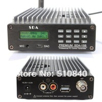 Free shipping New CZH SDA-15B 0~15w FM radio transmitter PC Control+1/4 wave DIPOLE Antenna