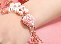New Fashion Women Cute Bracelet  Personalized Charm Pearl Bracelet