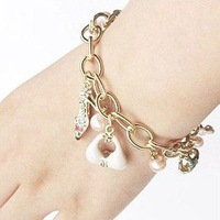 Bracelet Jewelry Supplier Gold Plating Pearl Beads Personalized Women Charm Bracelet