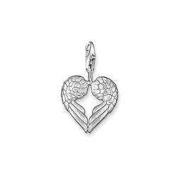 925 Silver Pendant presents is a pair of angel wings, the wings together form a heart charms Fit Bracelet #TS 0613-001-12(China (Mainland))