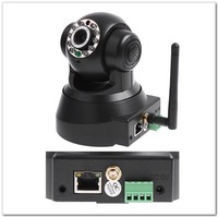 Freeshipping Hot NightVision P/T EasyN Wireless IP Camera webcam Web CCTV Camera Wifi Network IR black color C62
