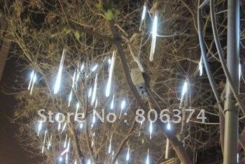 2M 8 X Column (18 Led each Column 30CM longth ) String LED Meteor Rain Light white