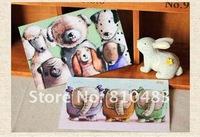 Free shipping wholesale 16sets/lot(192pcs/lot) Animal Design Post Card 150*100MM 300g paper