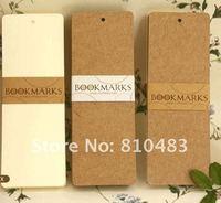 Free shipping by CPA wholesale 20sets/lot (480pcs/lot) Kraft Bookmarks, DIY Bookmark