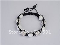 Fashion Beautiful crystal disco ball crystal white bracelet SH99