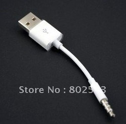 for ipod shuffle cable, HOT SALE usb cable, 100pcs/lot, free shipping(China (Mainland))