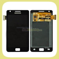 Promotion!!    Black i9100 LCD Display for Samsung Galaxy S II S 2 SII S2 +Touch Screen +Flex Cable +Free Shipping