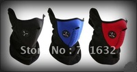 Free Shipping! hot sale 10pcs/lot Skiing Motorcycle Bicycle Skating Black/blue/red Face Mask Thermal Neck Warmer