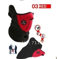 Neoprene Snowboard Ski Cycling Face Mask Neck Warmer Wind Proof red color