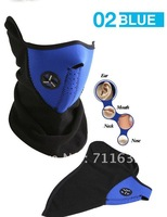 free ship thermal face mask neck warm face mask ski skate bicycle motorcycle face mask Blue color