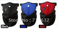Free Shipping! hot sale 30pcs/lot Skiing Motorcycle Bicycle Skating Black/blue/red Face Mask Thermal Neck Warmer