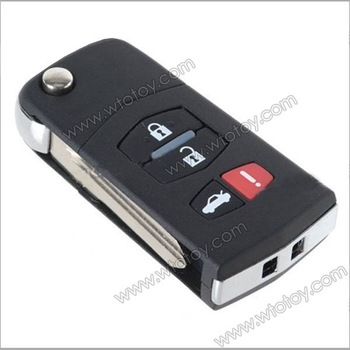 Folding Flip Remote Control Car Key Shell Case for NISSAN TIIDA Slyphy  11736