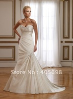 appliques 2012 mermaid wedding gowns sweetheart ivory