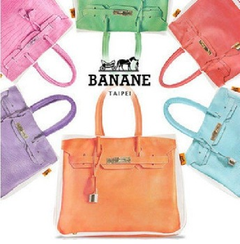 BANANE fashion popular canvas totes shoulder wristlets handbag evening bags banana