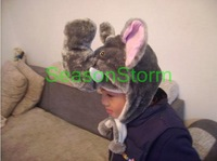 Min Order $20 (mixed order) Retail Plush Cartoon Elephant Ear Muff Hat / Halloween Winter Cap  (SL-04)