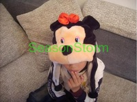 Min Order $20 (mixed order) Retail Plush Cartoon Mickey Minnie Ear Muff Hat / Halloween Winter Cap 2 Colors (SL-03)