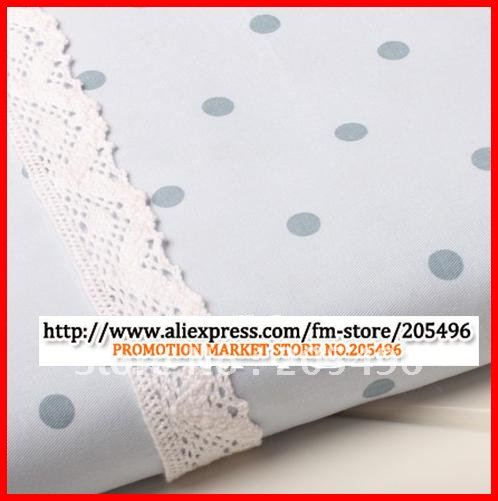 Blue dotted upholstery cotton Fabric for diy curtain cloth quilt top sofa home textiles material Meter Free shipping wholesale(China (Mainland))