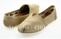 Free shipping  Fashionable recreational canvas shoes/male female comfortable single shoes 50 pairs