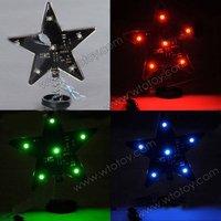Car Motorcycle Safety Flashing LED Strobe Lights Star Shape RGB Multi-color 11747