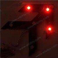 Red Blue LED Car Mirror Arrow Turn Signal Light Indicator Safe 11749