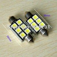 festoon/C5W 36mm/39mm 6SMD 5050 12V DC led lights NO OBC ERROR WHTE, for Audi BMW  10pcs /lot
