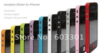 free shipping Side Bumper Insulation Sticker for iPhone 4S,accept mix color, color sticker for iPhone 4S side and bottom