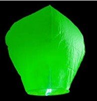 Green Color Chinese Festival Of Sky Lanterns Wishing Lamp Best Promotional Gift Free Shipping(China (Mainland))