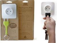Free shipping/EMS,Retail pack plastic plug Key Chains,plug seat shape key holder,unplug keychain,family supply avoid dispalced