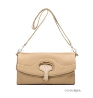 DUDU 's series the first layer leather bag  ostrich grain portable ladies Satchel