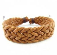 Bracelet Jewelry Supplier Engraved Brown Braid Bracelet  Cheap Leather Bracelets